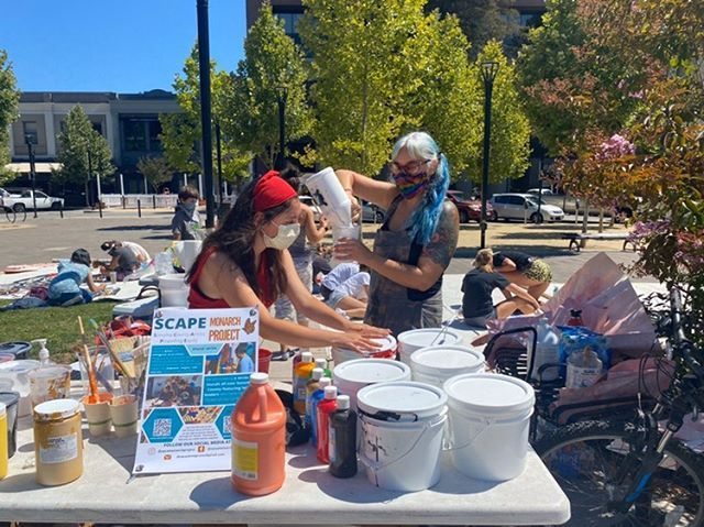 Our Paint Station at the Courthouse Square